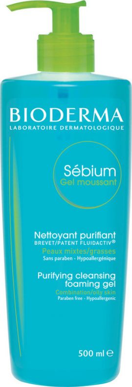 Bioderma Sebium Gel Moussant με 40% Δωρεάν Προϊόν 500ml