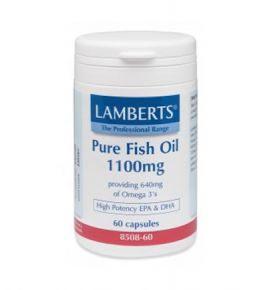 Lamberts Pure Fish Oil 1100mg (EPA) 60 caps (Ω3) New Higher Strength