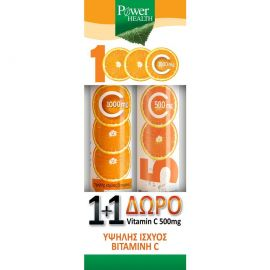 Power Health Vitamin C 1000mg 20 + 4tabs + Δώρο Vitamin C 500mg 20tabs