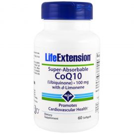 Life Extension Super Absorbable Co Q10 with D-Limonene Συμπλήρωμα με Συνένζυμο Co Q10, 60 softgels