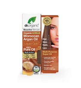 Dr.Organic Moroccan Argan 100% Pure Oil Liquid Gold 50ml