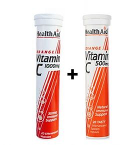 Health Aid Vitamin C 1000mg Πορτοκάλι 20 tabs+ Vitamin C 500mg Πορτοκάλι 20 tabs