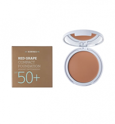 Korres Κόκκινο Σταφύλι Compact Foundation SPF50+ Light Sunglow 8g