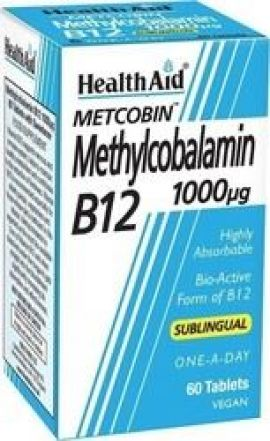 Health Aid Metcobin Methylcobalamin B12 1000mg 60 Ταμπλέτες