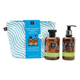 Apivita Promo Tonic Mountain Tea Shower Gel 300ml & Tonic Mountain Tea Moisturizing Body Milk 200ml & Νεσεσέρ