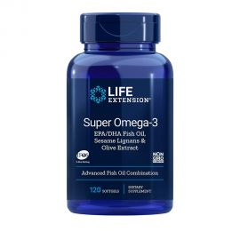Life Extension Super Omega-3 EPA/DHA with Sesame Lignans & Olive Extract 120 softgels