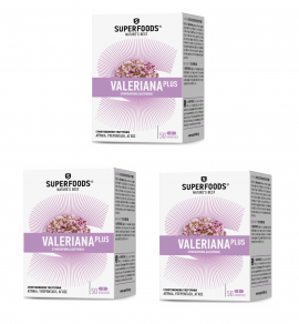 3x Superfoods Valeriana plus, 3x 50 caps