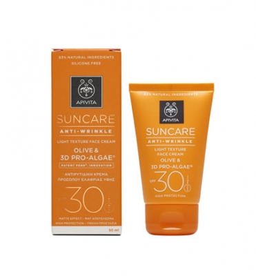 Apivita Suncare Anti-Wrinkle Light Texture Face Cream SPF30 50ml