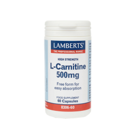 Lamberts L-Carnitine 500μg New Higher Strength 60 caps