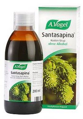 A.Vogel Santasapina Syrup 200ml (without Alc) Αντιβηχικό, Μαλακτικό Σιρόπι