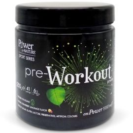 Power of Nature Sport Series Pre-Workout Powder Με φυσική γεύση φράουλα λεμόνι 250g