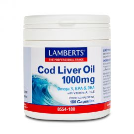 Lamberts Cod Liver Oil 1000mg 180 caps (Ω3&VIT A, D & E)