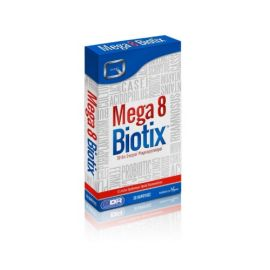 Quest Vitamins Mega 8 Biotix providing 30 billion probiotic bacteria, 30's