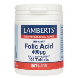 Lamberts Folic Acid 400mg 100 tabs