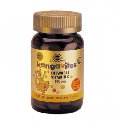 Solgar Kangavites Vitamin C 100mg Chewable tabs 90s (πορτοκάλι)