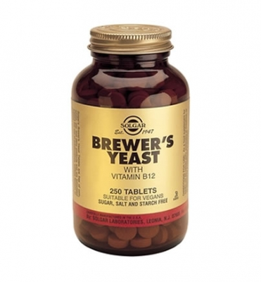 Solgar Brewer's Yeast with Vitamin B-12 500mg tabs 250s