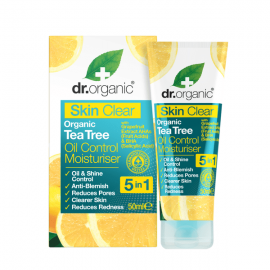 Dr. Organic Skin Clear Organic Tea Tree Oil Control Moisturiser 5 in 1 50 ml